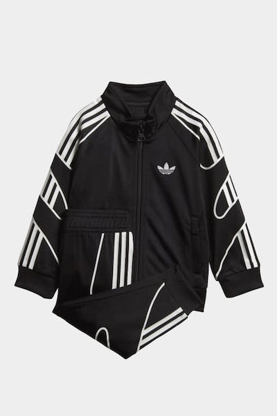 ADIDAS KIDS FLAMESTRIKE TRACK SUIT 2PC SET BLACK/WHITE