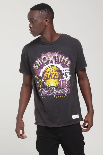 5bbd0bd2 Mitchell & Ness Los Angeles Lakers Vintage Champ Tee Black
