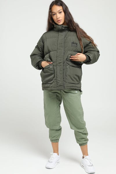 Stussy Women's Stock Puffer Jacket Green