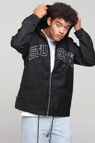 Stussy Sport Hooded Coaches Black
