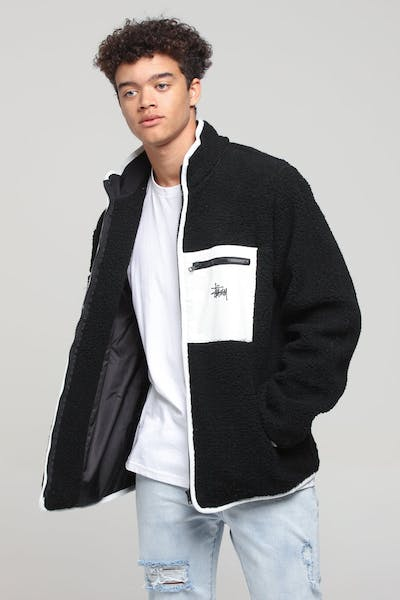 Stussy Grafitti Sherpa Jacket Black