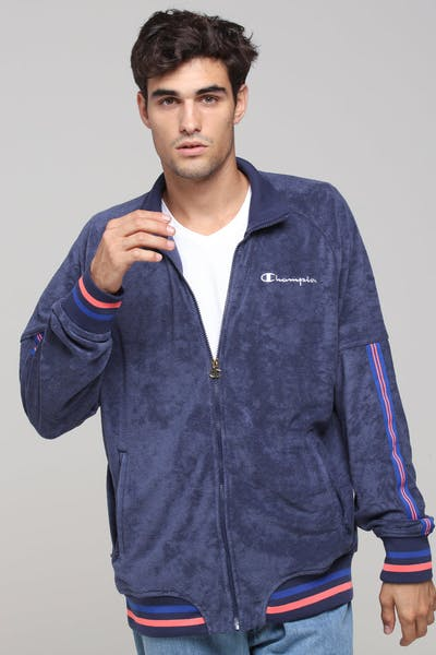 Champion Terry Warm Up Jacket Indigo