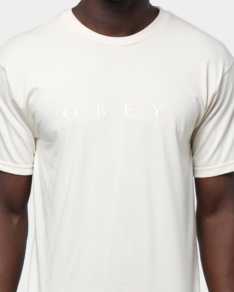 Obey Novel Obey Tee Natural