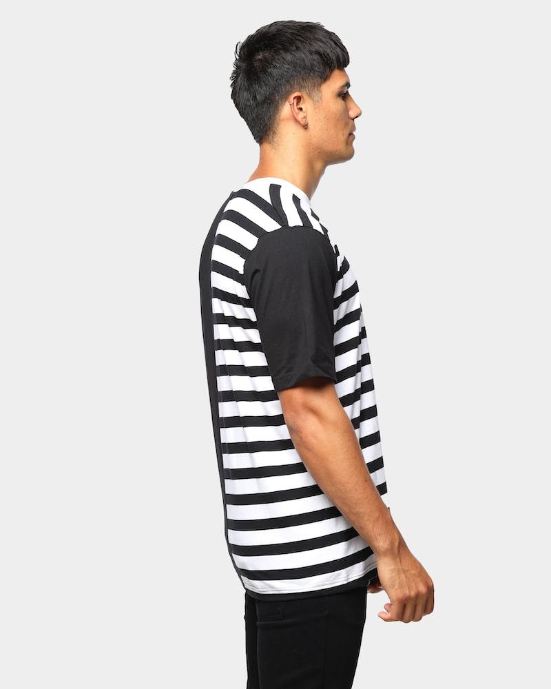 ENES Split Stripe Tee Black/White
