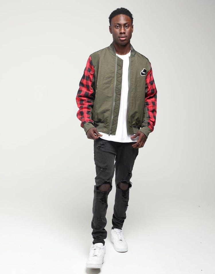klasyczny styl przemyślenia na temat wyprzedaż resztek magazynowych Nike Sportswear NSW Synthetic-Fill Jacket Khaki/Red/Sail
