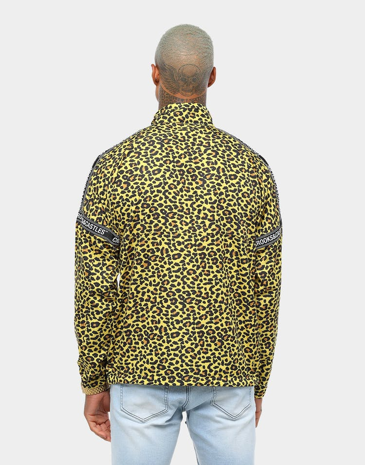Crooks & Castles Slant Core 1/4 Zip Pull Over Leopard
