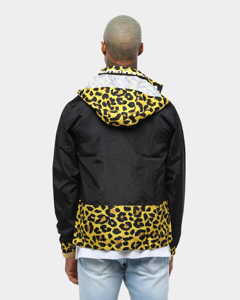 Crooks & Castles Segment Windbreaker Black/Leopard