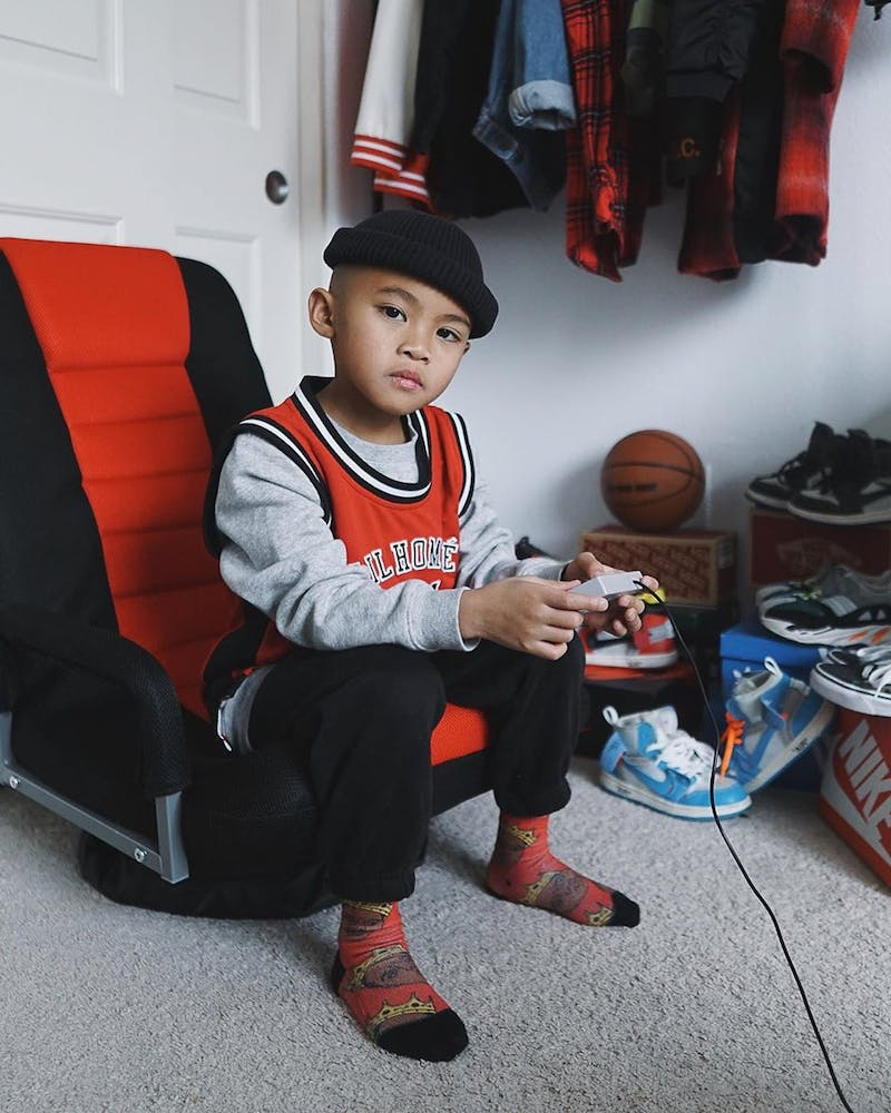 LIL HOMMÉ JOUER BASKETBALL JERSEY RED/BLACK