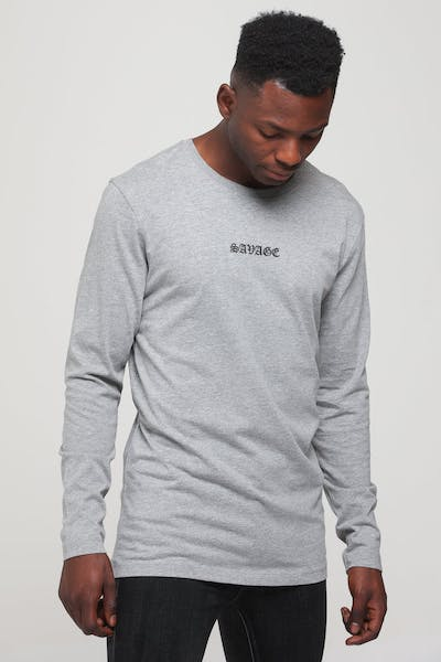 Goat Crew Forever Savage LS Tee Grey