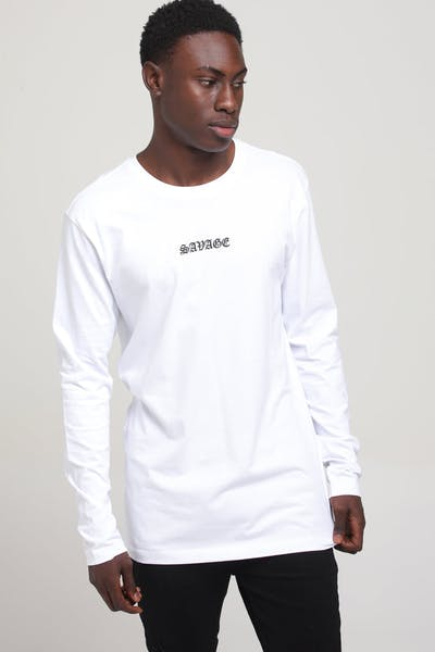 Goat Crew Forever Savage LS Tee White