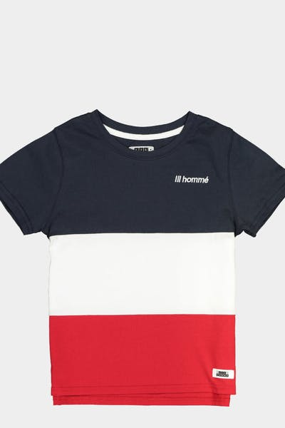 Lil Hommé Lafayette Division SS Tee Navy/White/Red