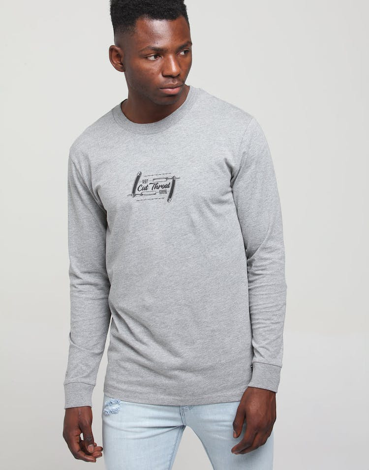 Rats Get Fat Been Cut Throat LS Tee Grey