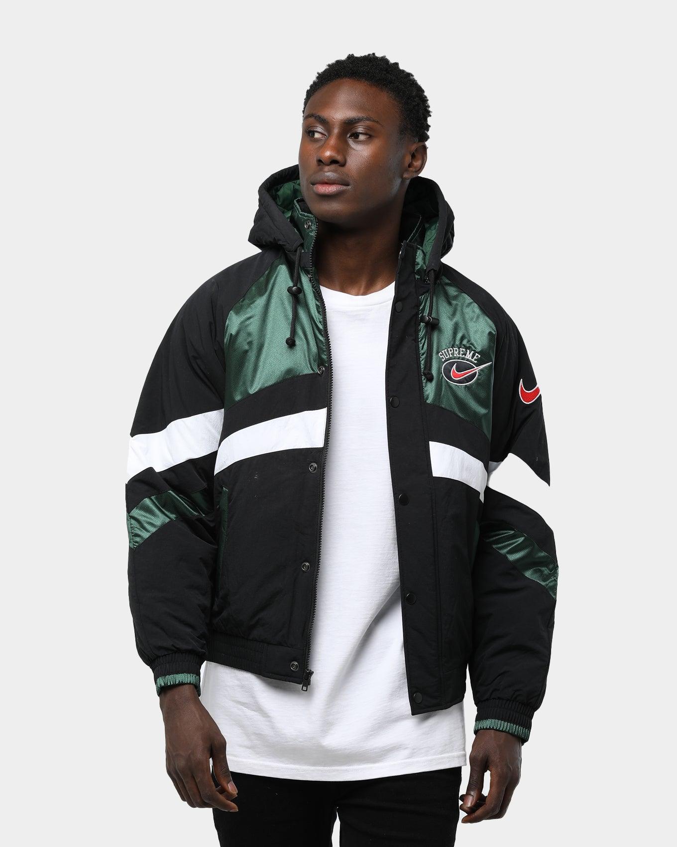 Men's Philadelphia Eagles Throwback BlackKelly Green Anorak Jacket