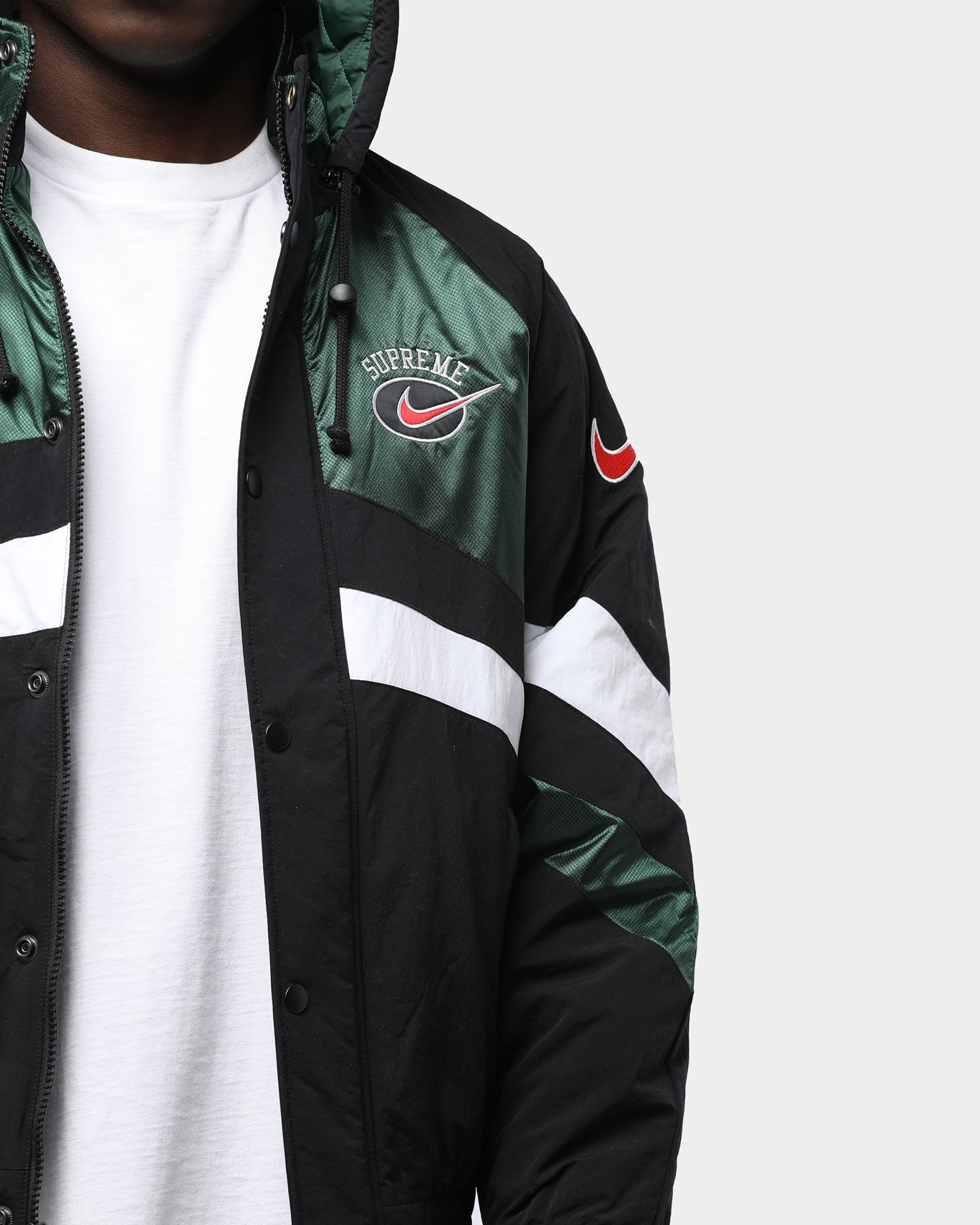 Supreme X Nike Hooded Sport Jacket Green