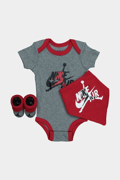 JORDAN KIDS AJ AIR 3-PIECE BOX SET CARBON