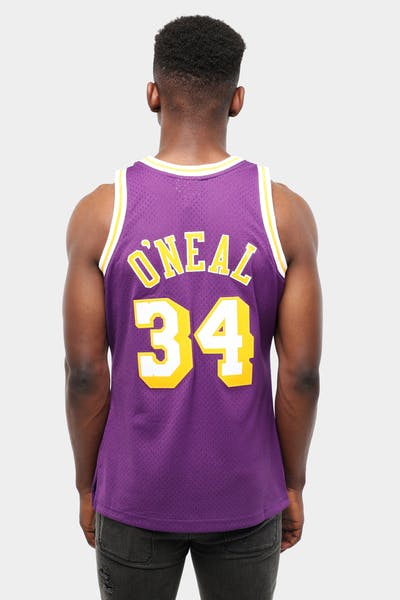 Mitchell & Ness Los Angeles Lakers Shaquille O'Neal #34 Swingman Jersey Purple