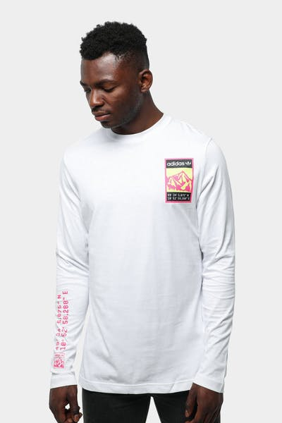 ADIDAS GRAPHIC LONG SLEEVE TEE WHITE