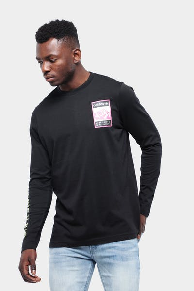 ADIDAS GRAPHIC LONG SLEEVE TEE BLACK