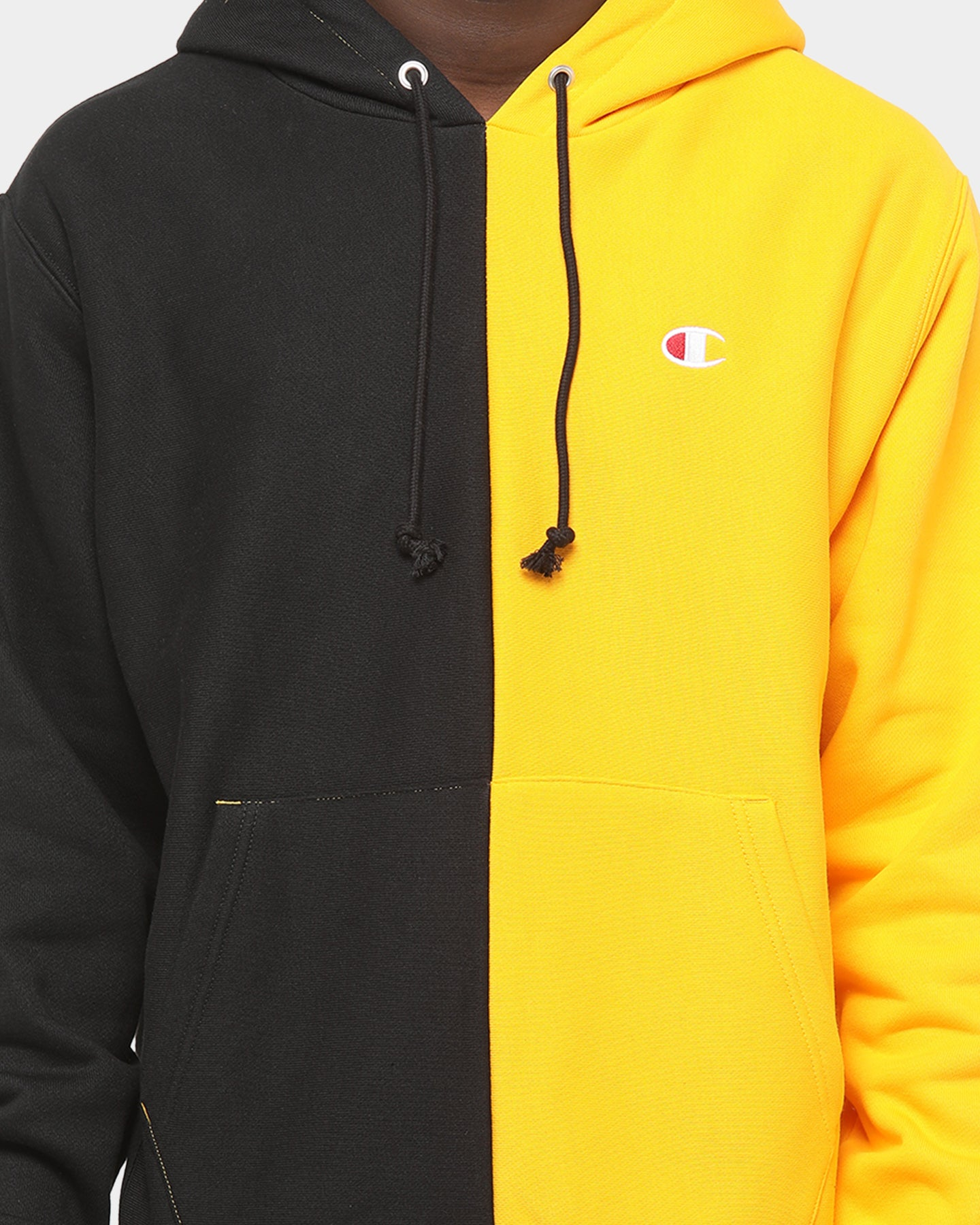 Champion Reverse Weave Hooded dark yellow