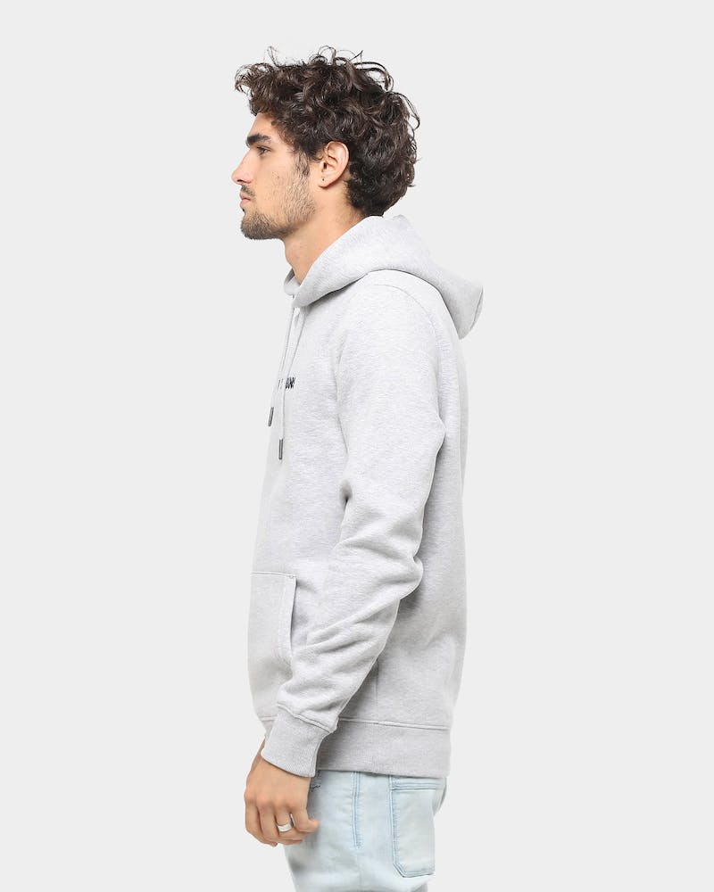 Tommy Jeans TJM Straight Logo Hoodie Light Grey Heather