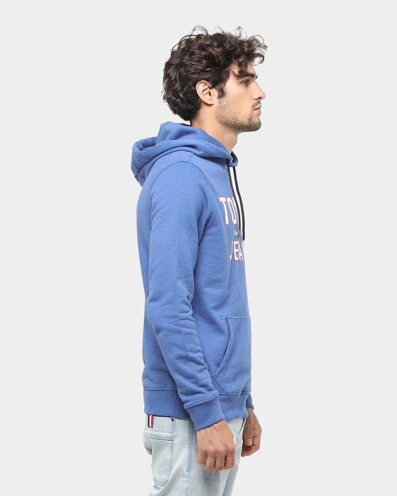 Tommy Jeans TJM Essential 1985 Logo Hoodie Dutch Blue