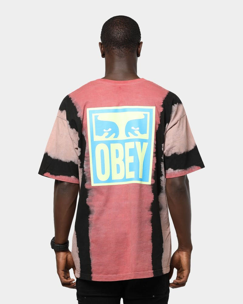 Obey Eyes Icon Tie Dye Tee Red