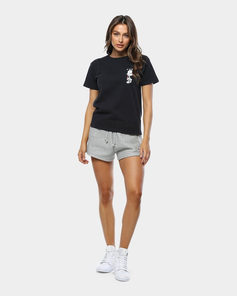Obey Women's Obey Rose Shackle Tee Off Black
