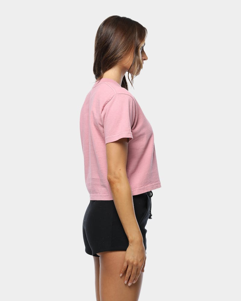 Obey Women's Novel Obey Crop Tee Dusty Pink