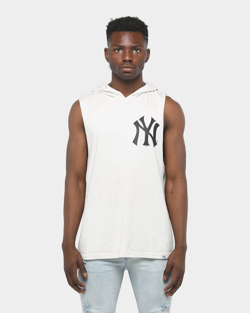 Majestic Athletic New York Yankees Vincennes Hood Muscle White Marle