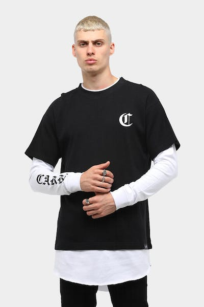 Carré Men's Paix Long Sleeve T-Shirt Black/White