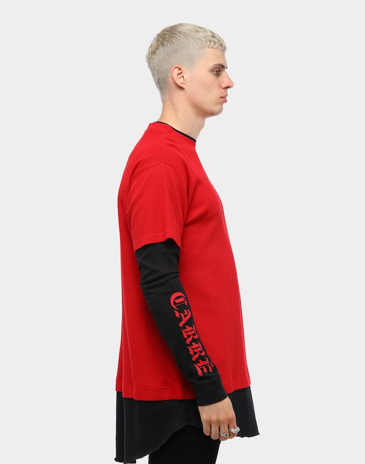 Carré Men's Paix Long Sleeve T-Shirt Red/Black