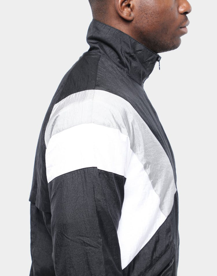 CHAMPION NYLON WARM UP JACKET BLACK