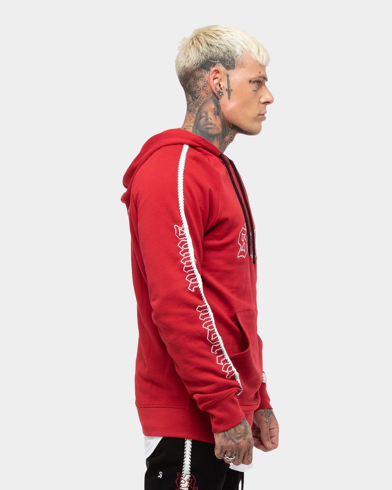Saint Morta Fearless Hoody Red/Black/White