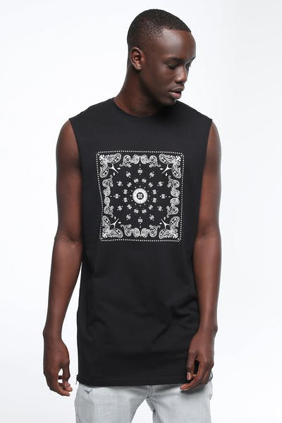 CARRÉ MAFIOSO CAPONE MUSCLE TEE BLACK