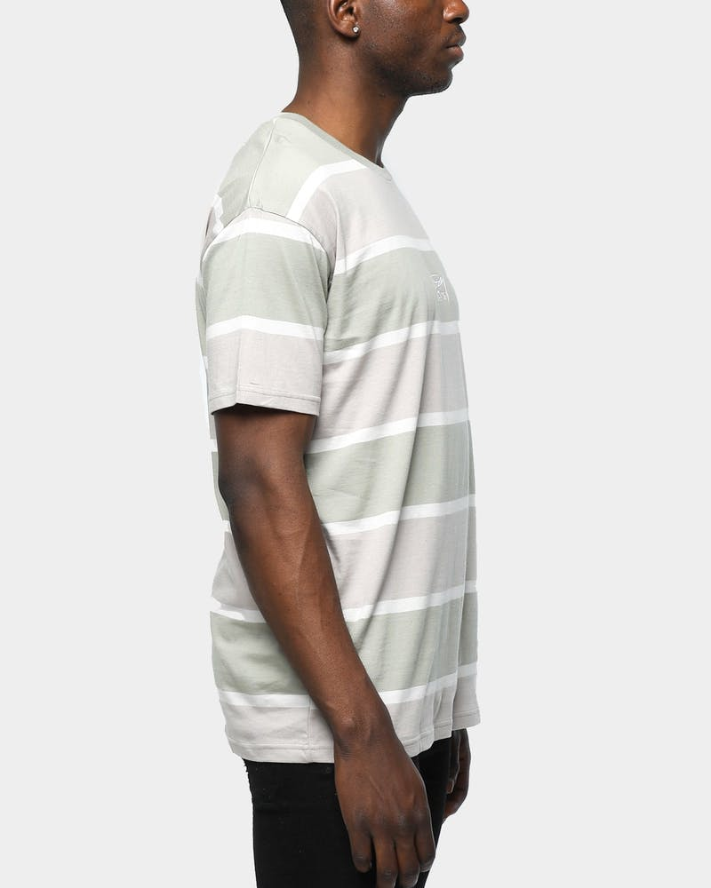 Stussy Crawford Stripe Tee Atmosphere Grey