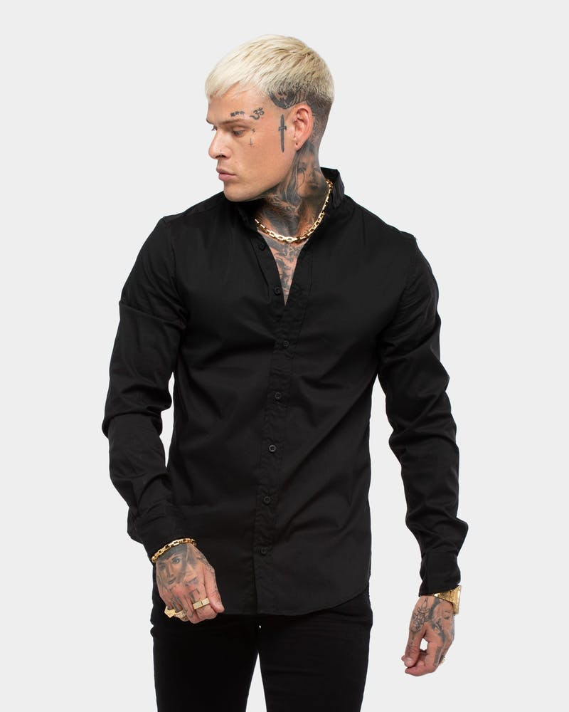 Saint Morta Dios Slimfit LS Shirt Black