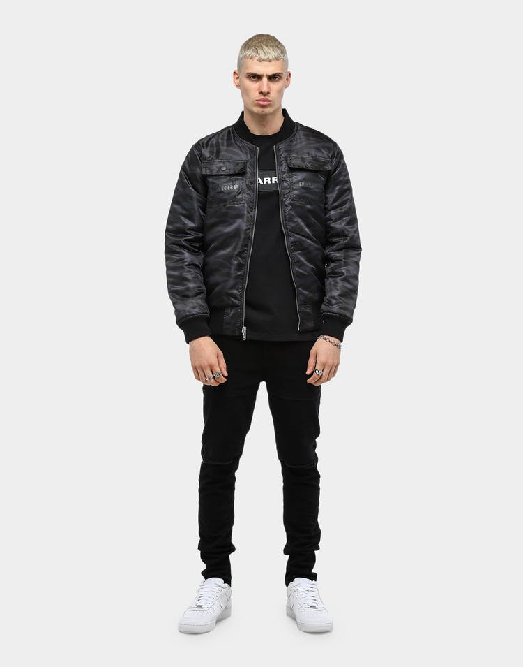 Carré Men's Sentry Reversible Bomber Black/Tiger Camo