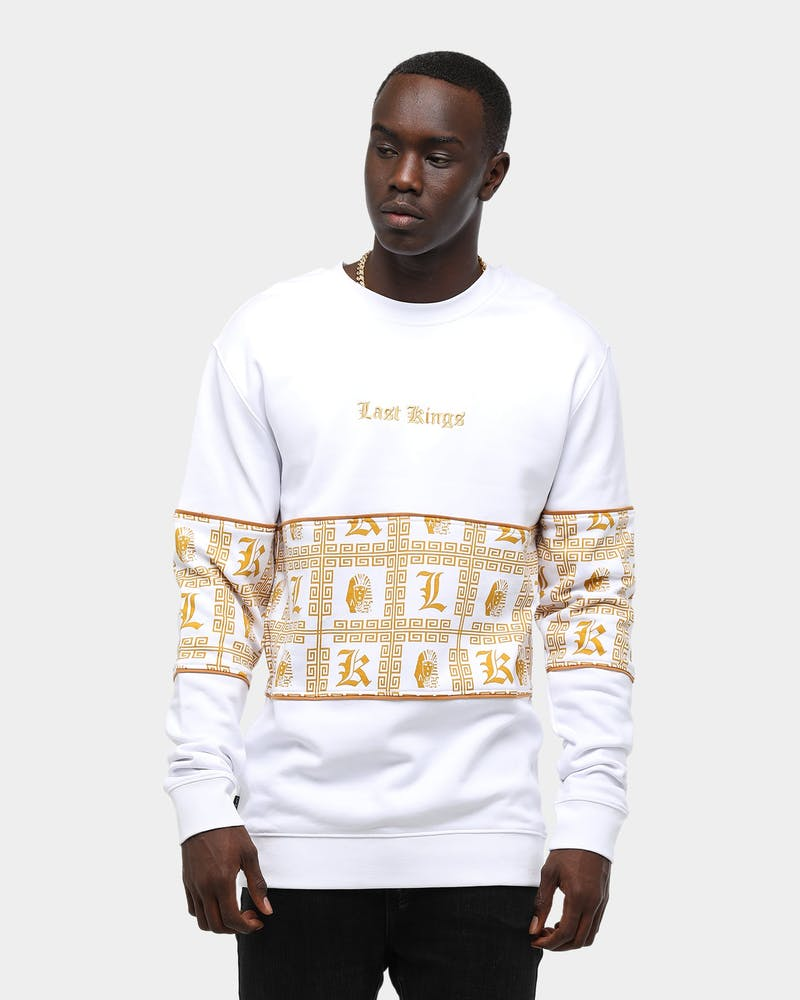 Last Kings Regal Crewneck White/Gold