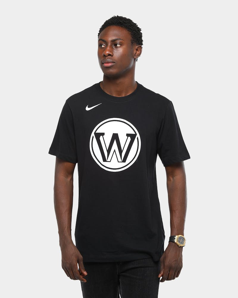NIKE GOLDEN STATE WARRIORS CITY EDITION DRI-FIT TEE BLACK