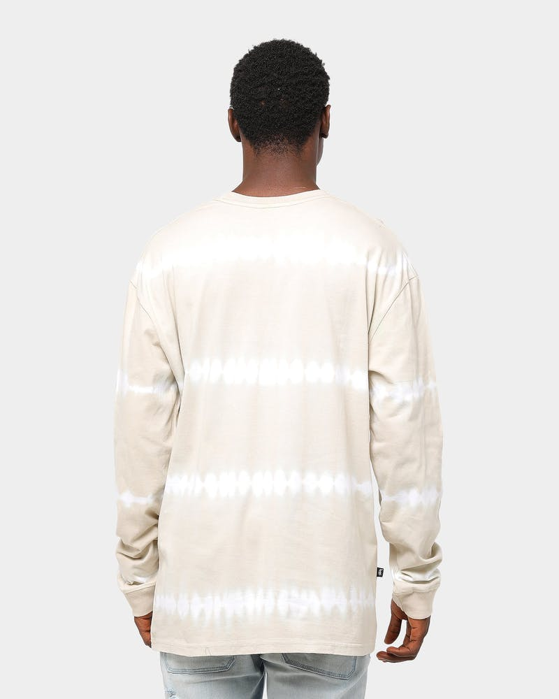Stussy Blurred Tie Dye Long Sleeve T-Shirt Sand