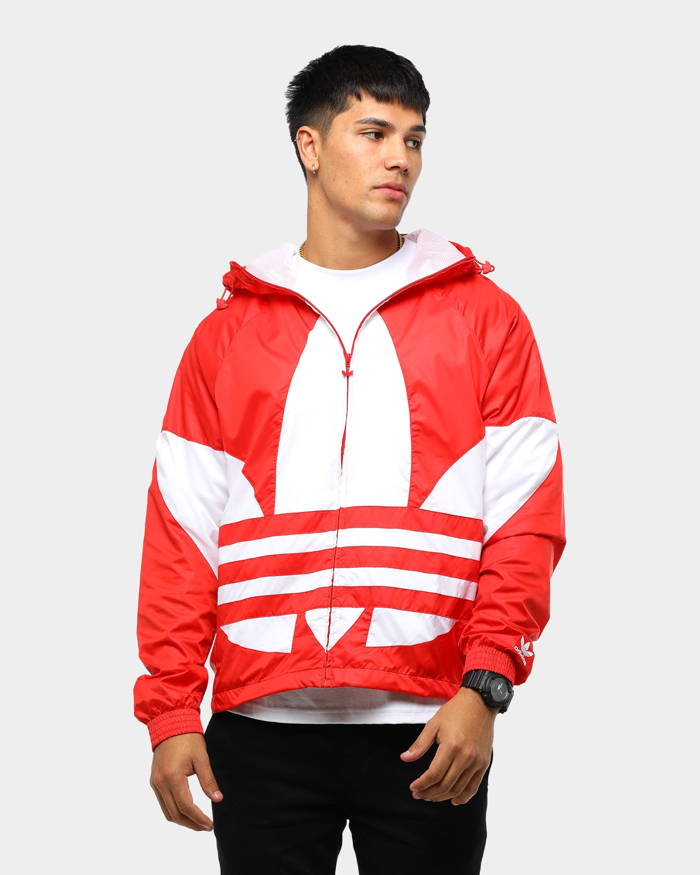 adidas W windbreaker red