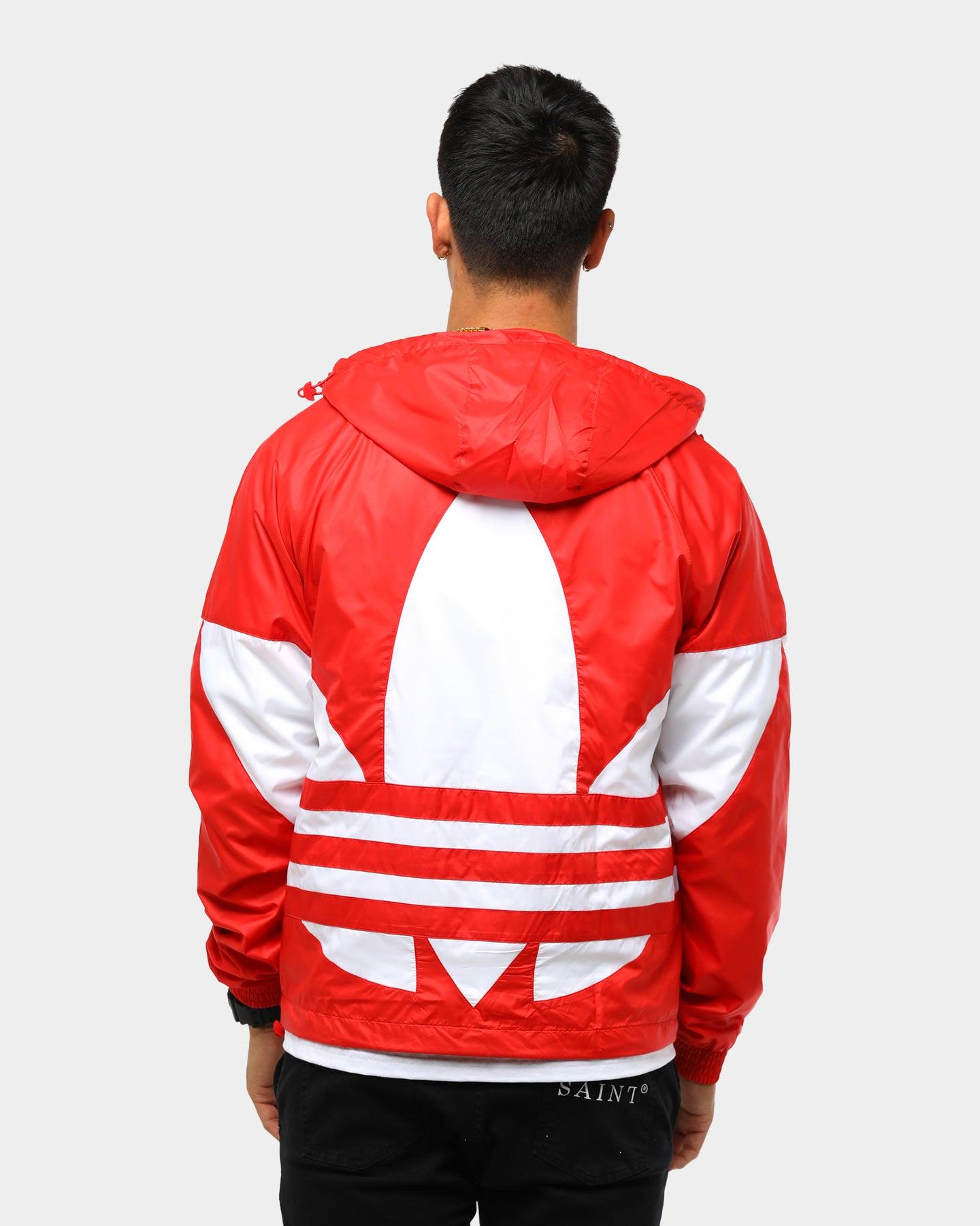 Adidas Big Trefoil Windbreaker Red