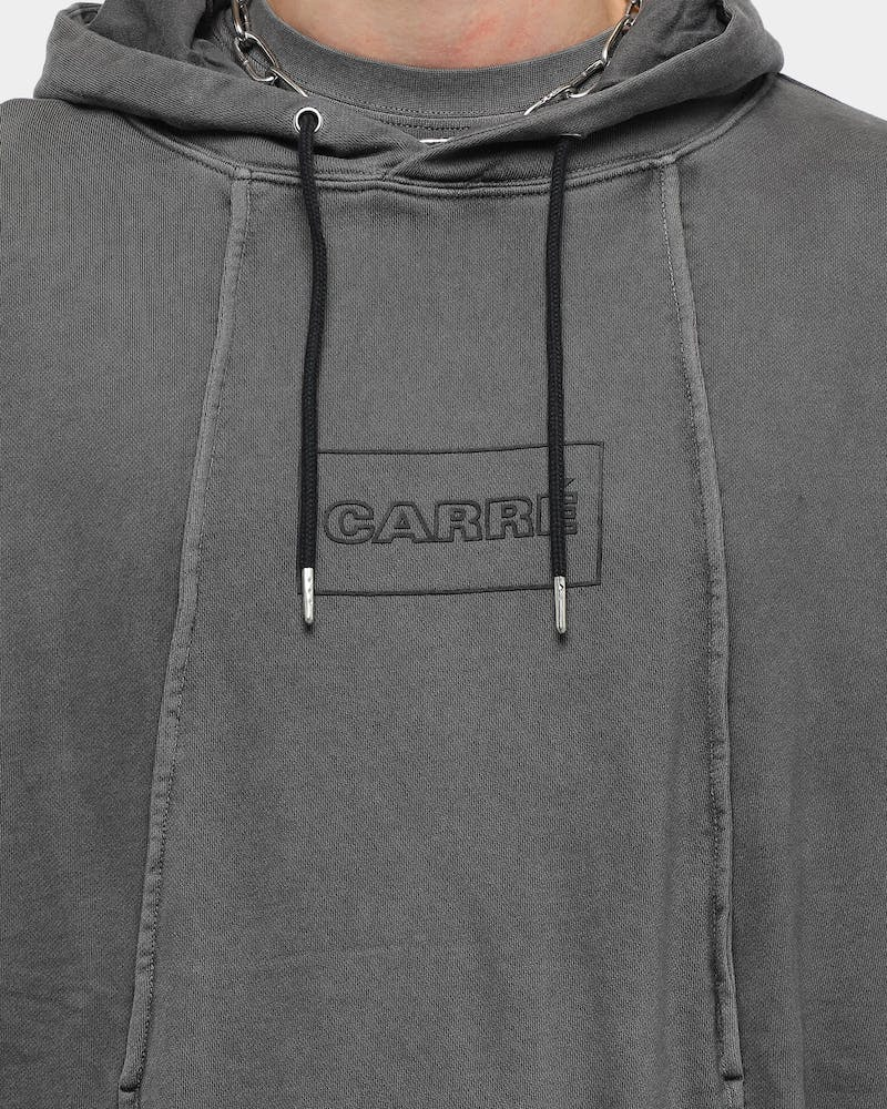 Carré Men's Lave LS Hoodie Washed Black