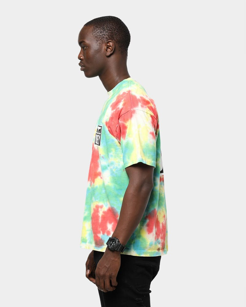 Obey Eyes Icon Tie Dye S/S Tee Rainbow