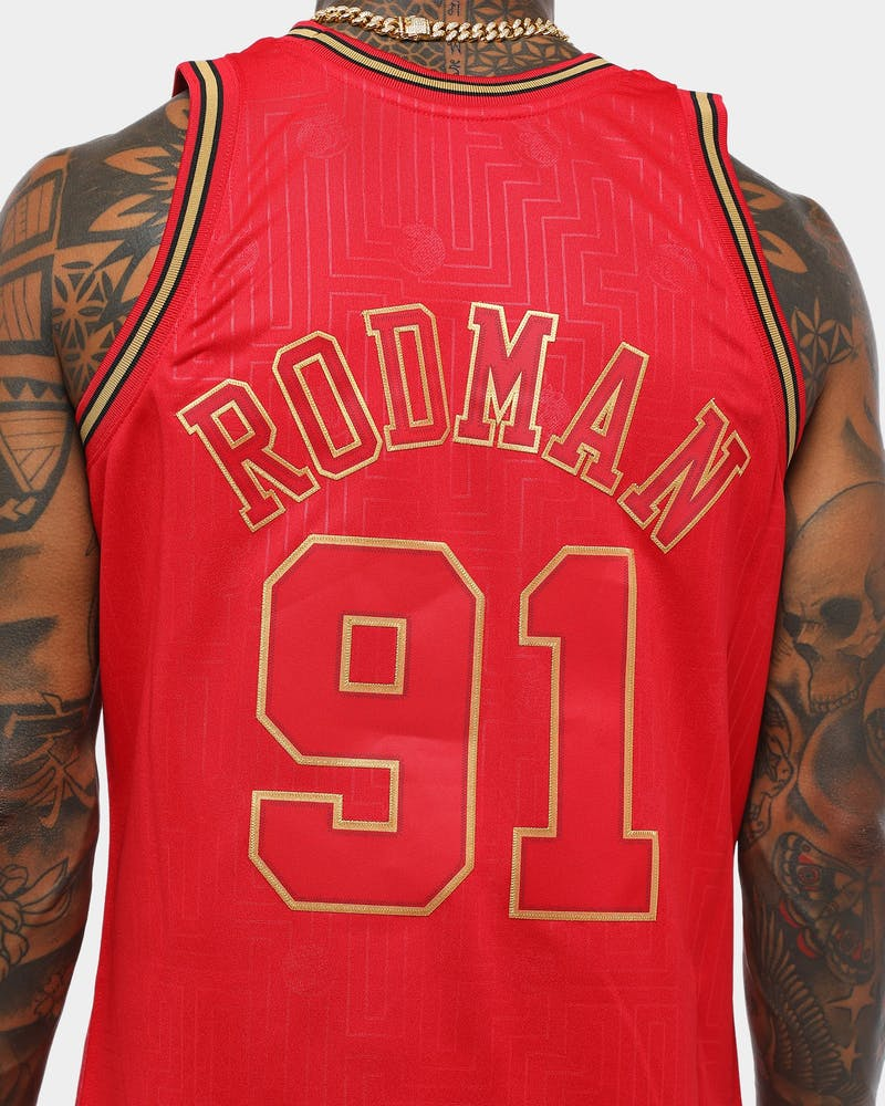 Mitchell & Ness Chicago Bulls Dennis Rodman #91 '97-98 CNY Swingman Red