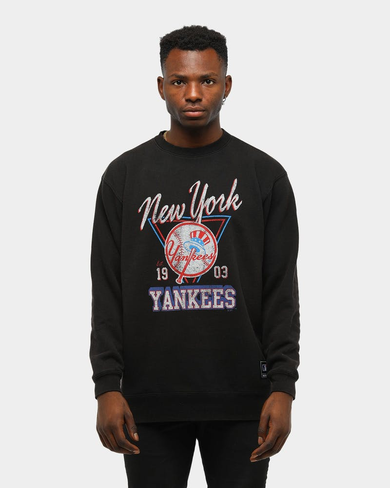 MAJESTIC ATHLETIC YANKEES CHAMPS CREW SWEAT BLACK