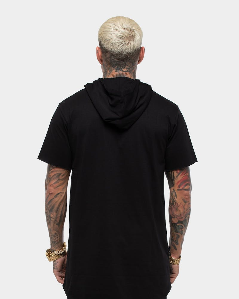 Saint Morta Men's Trophies Hoodrat Short Sleeve Hooded Tall T-Shirt Black/Gold