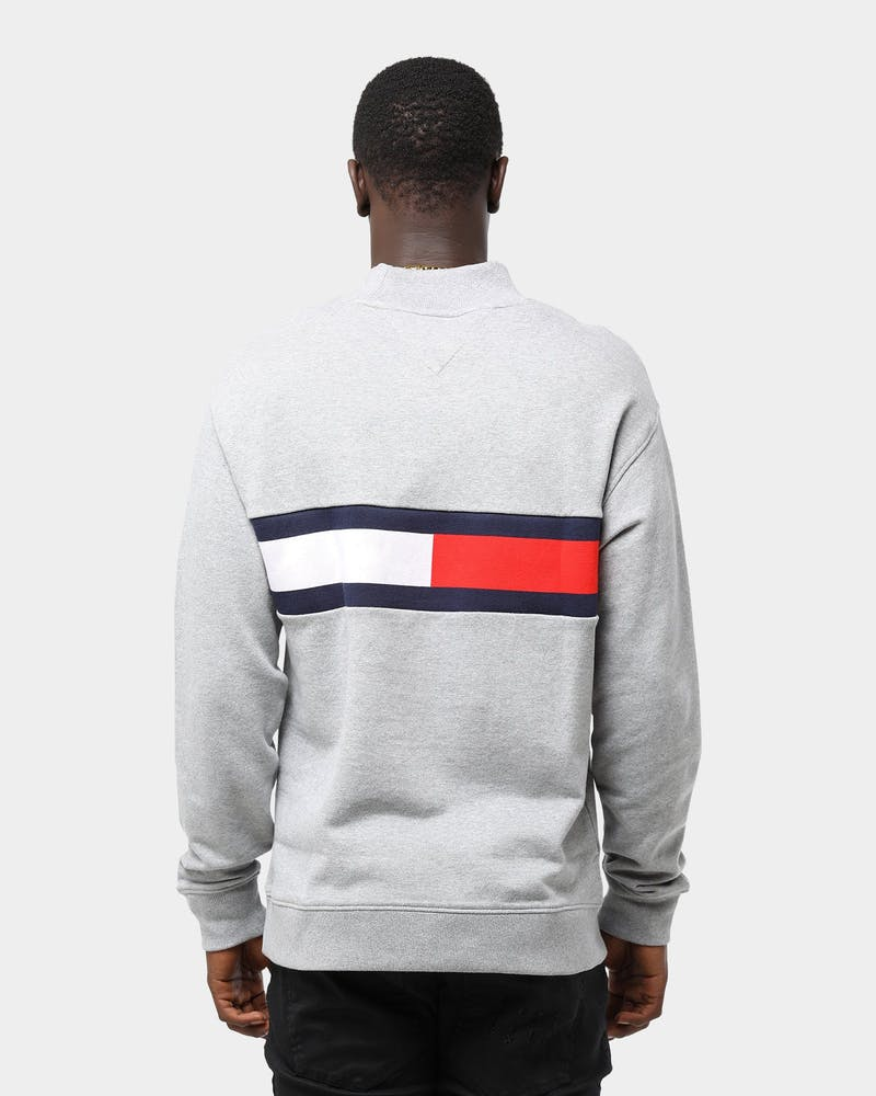 Tommy Jeans Men's TJM Jacquard Flag Panel Light Grey Heather