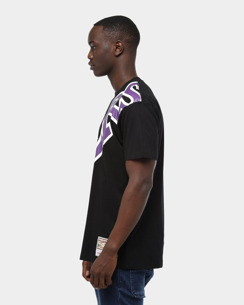 Mitchell & Ness Los Angeles Lakers Big Face Short Sleeve T-Shirt Black