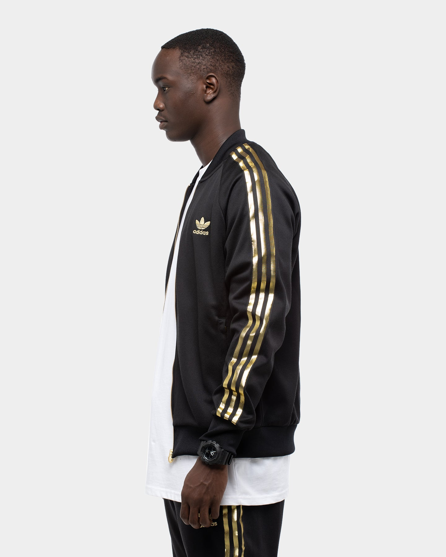 Adidas Men's SST 24K Track Top BlackGold | Culture Kings